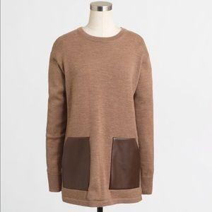 GUC J. Crew Merino Pocket Tunic Sweater